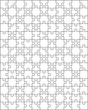 Vector illustration of big white puzzle, separate parts