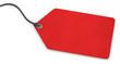 canvas print picture - Anhänge-Etikett - Karton rot strukturiert