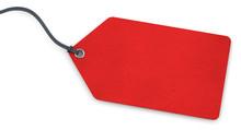 Anhänge-Etikett - Karton Rot Strukturiert