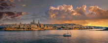 Waterfront Of Valletta At Suns...