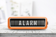 Retro Alarm Clock With A Warni...