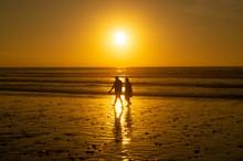 Couple On Beach Silhouette
