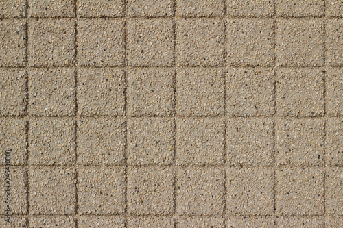 Fotografie, Obraz  Beige color exterior wall abstract background with conglomerate look square ston