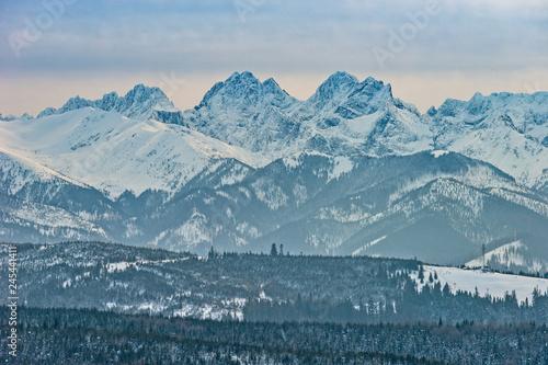 Fototapeta Tatry zimą, Rysy, pejzaż górski obraz