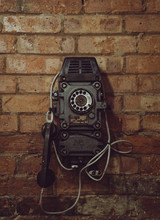 Old Vintage Telephone On The R...