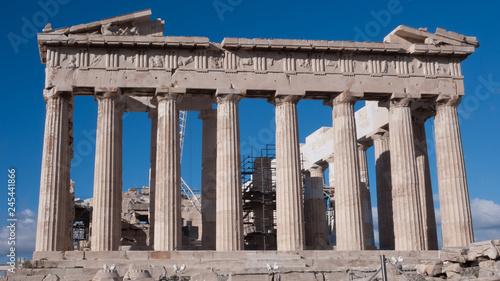 Obraz na płótnie Ruiny Partenonu na Akropolu w Atenach, Attyka, Grecja