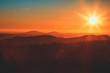 Thüringen Sonnenuntergang