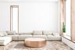 canvas print picture White living room interior