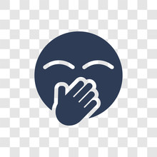 Hand Over Mouth Emoji Icon Vector