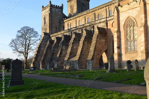 Fotografie, Obraz Dunfermline Abbey on a sunny December day, Fife, Scotland