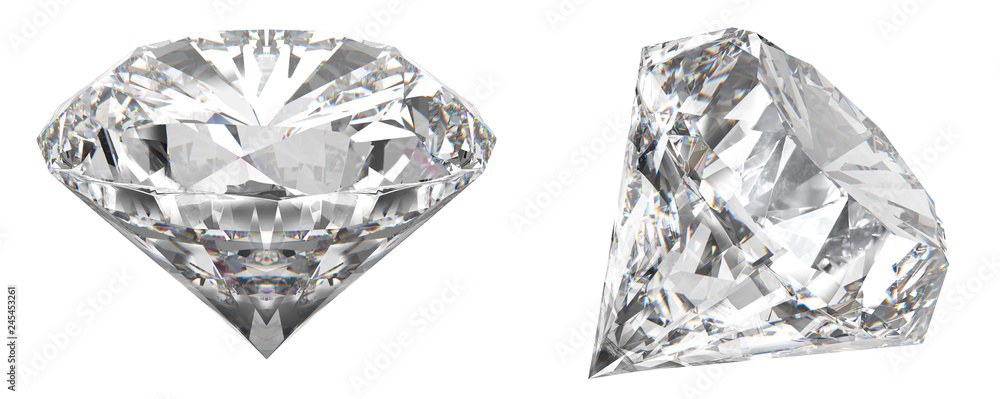 Fototapeta A real shot of a diamond that shows the different angles of the diamond. HD picture