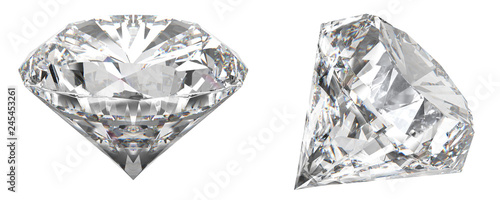 Photo A real shot of a diamond that shows the different angles of the diamond