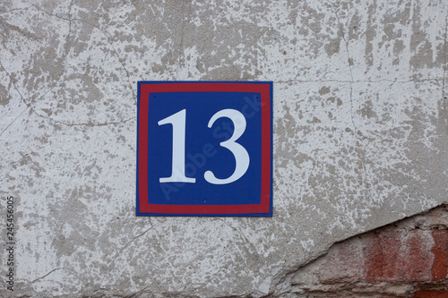 Fotografia  number on the wall