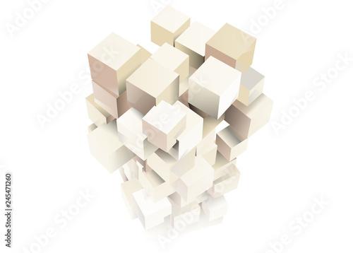 Vászonkép 立方体 イメージ デザイン