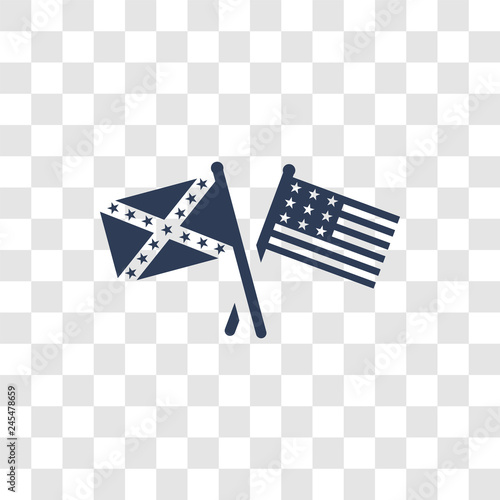 american civil war icon vector Fototapet