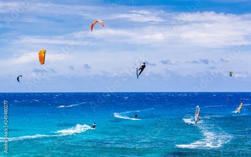 kitesurf et planches à voiles, Boucan Canot, île de la Réunion