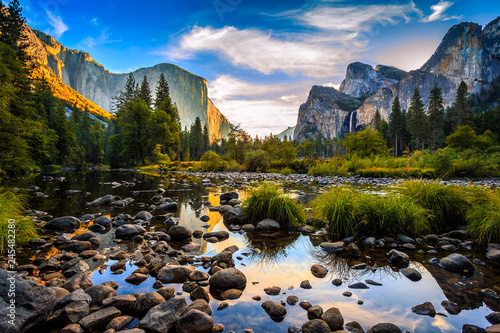 Sunrise on Yosemite Valley, Yosemite National Park, California Wallpaper Mural