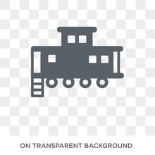Caboose Icon. Caboose Design Concept From Transportation Collection. Simple Element Vector Illustration On Transparent Background.