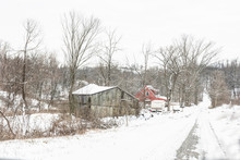 Old Farmstead On A Lonely Snow...