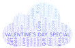 Valentine's Day Special word cloud.