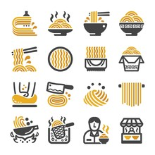 Noodle Icon Set,vector And Ill...