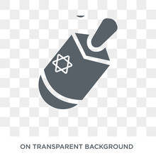 Dreidel Icon. Trendy Flat Vector Dreidel Icon On Transparent Background From Religion  Collection. High Quality Filled Dreidel Symbol Use For Web And Mobile