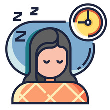 Sleeping Well LineColor Illustration