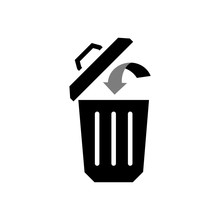 Trash Bin Or Trash Can Symbol Icon Or Logo