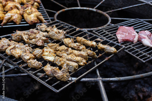 Photo  Volcanic barbecue in the El Diablo Restaurant