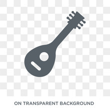 Mandolin Icon. Mandolin Design Concept From Music Collection. Simple Element Vector Illustration On Transparent Background.