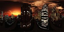 HDRI, Environment Map , Round Panorama, Spherical Panorama, Equidistant Projection, Panorama 360,