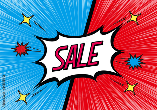 Valokuva  アメコミ風SALE comics style designed  Sale !