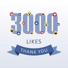 3000 Likes Thank You Number Wi...