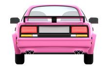 Car 1980 Cyberpunk Pink Back
