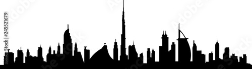 Photo  Dubai Skyline Cityscape
