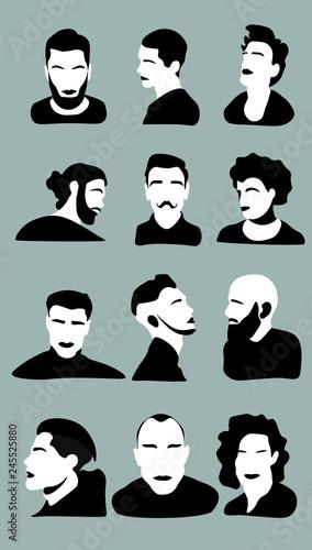 Adult Avatar Background Barber Barbershop Beard Beautiful Beauty