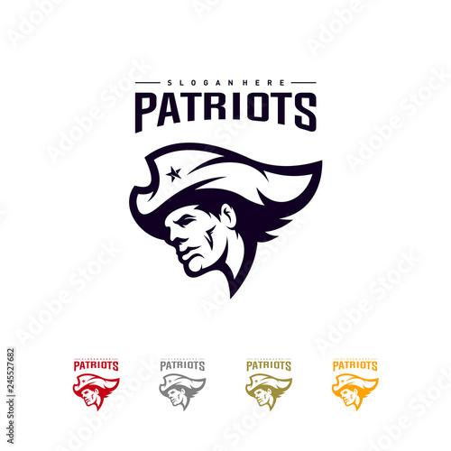 Photo Patriots Logo Design Vector