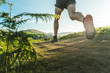 Leinwanddruck Bild - Man running.