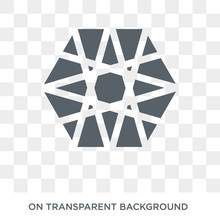Metatron Cube Icon. Metatron Cube Design Concept From Geometry Collection. Simple Element Vector Illustration On Transparent Background.