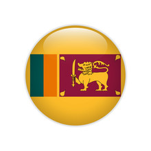 Sri Lanka Flag On Button