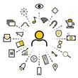 Vector banner design of digital marketing concept.