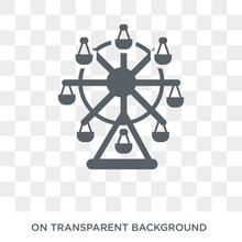 Ferris Wheel Icon. Ferris Wheel Design Concept From Entertainment Collection. Simple Element Vector Illustration On Transparent Background.