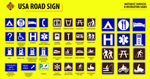 Set Of USA Road Sign.(MOTORIST...