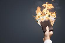 Euro Geldscheine Verbrennen In...