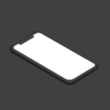 Smartphone Right Mockup Vector