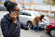 Woman Calling For Assistance A...