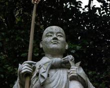 Japanese White Monk Statue