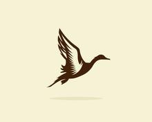 Flying Duck Vector Illustratio...