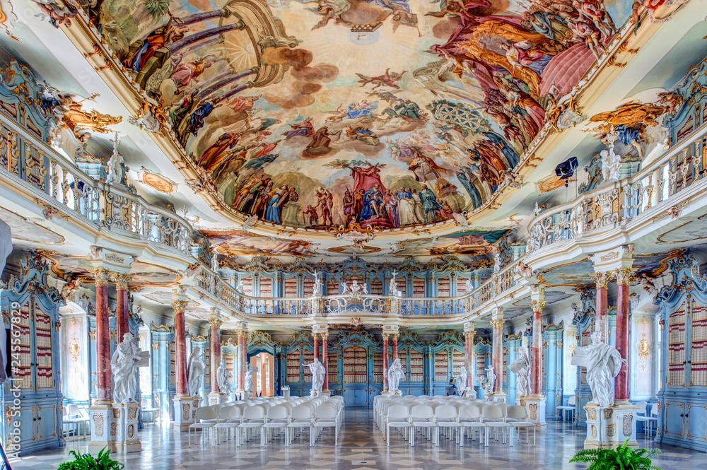 Fototapety, obrazy: Bibliothekssaal im Kloster Schussenried