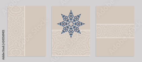 Fotografía  Templates for greeting and business cards, brochures, covers